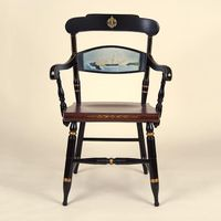 Hand-painted US Naval Academy Campus Chair by Hitchcock