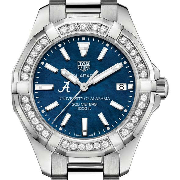 Alabama Women's TAG Heuer 35mm Steel Aquaracer with Blue Dial