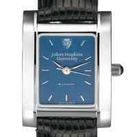 Johns Hopkins Women's Blue Quad Watch with Leather Strap