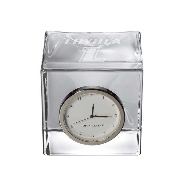 Loyola Glass Desk Clock by Simon Pearce - Image 1