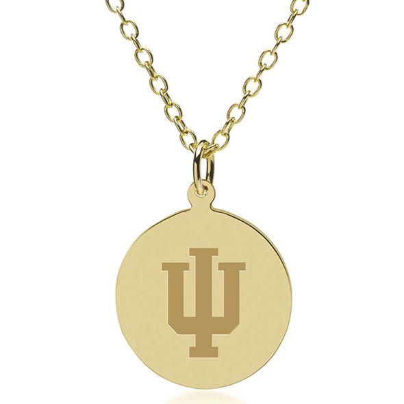 Indiana University 18K Gold Pendant & Chain - Image 1