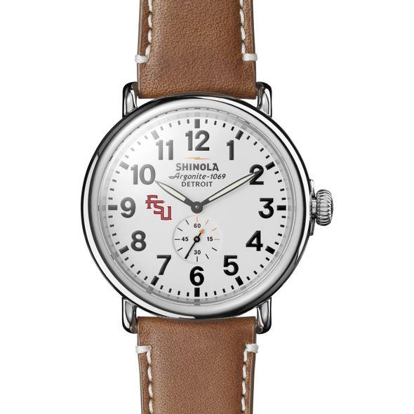 FSU Shinola Watch, The Runwell 47mm White Dial - Image 2