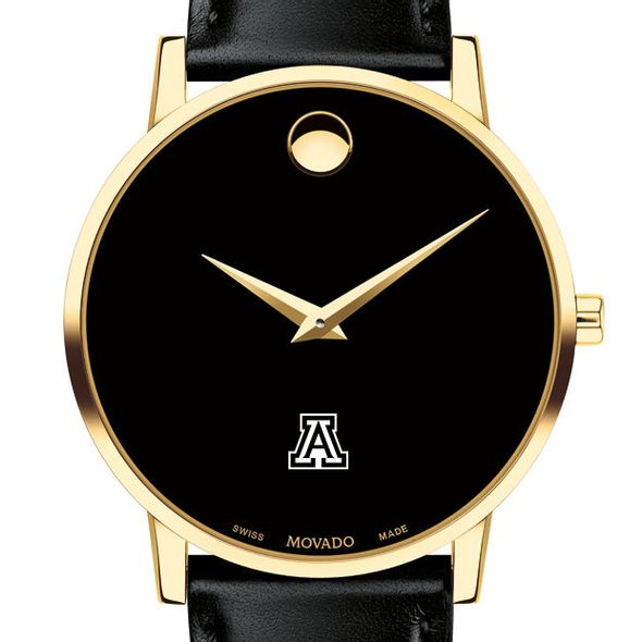 University of Arizona Men's Movado Gold Museum Classic Leather