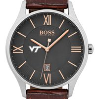Virginia Tech Men's BOSS Classic with Leather Strap from M.LaHart