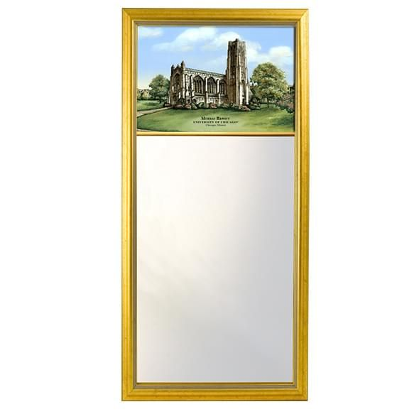 Chicago Eglomise Mirror with Gold Frame