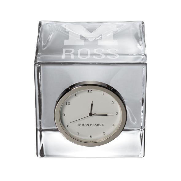 Michigan Ross Glass Desk Clock by Simon Pearce - Image 1