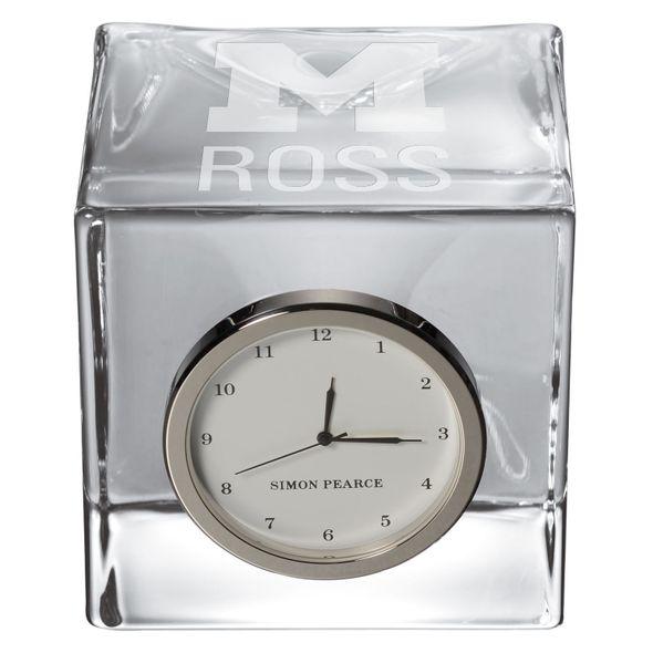 Michigan Ross Glass Desk Clock by Simon Pearce - Image 2