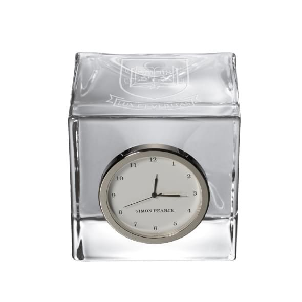 Yale Glass Desk Clock by Simon Pearce - Image 1