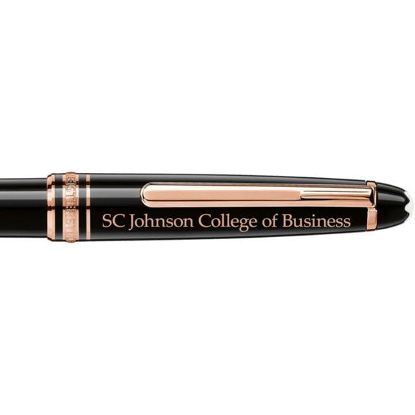 SC Johnson College Montblanc Meisterstück Classique Ballpoint Pen in Red Gold - Image 2