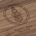 University of Miami Solid Walnut Desk Box - Image 3