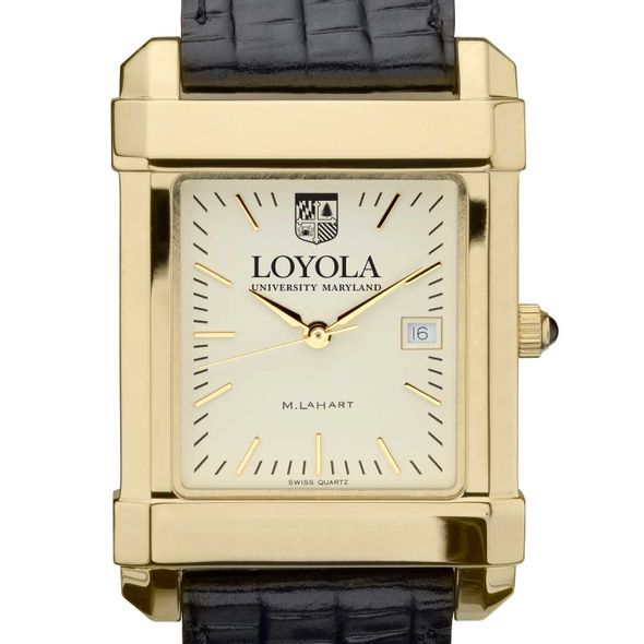 Loyola Men's Gold Quad with Leather Strap - Image 1