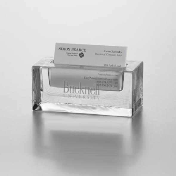 Bucknell Glass Business Cardholder by Simon Pearce