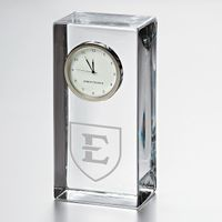 East Tennessee State University Tall Glass Desk Clock by Simon Pearce