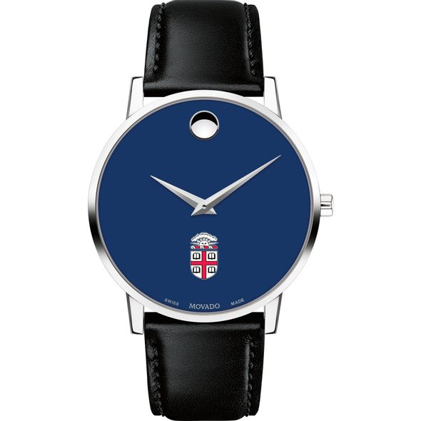 Brown University Men's Movado Museum with Blue Dial & Leather Strap - Image 2