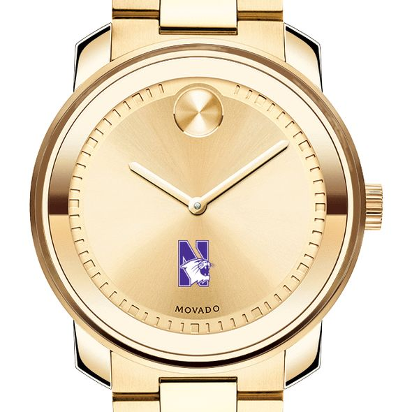 Northwestern University Men's Movado Gold Bold