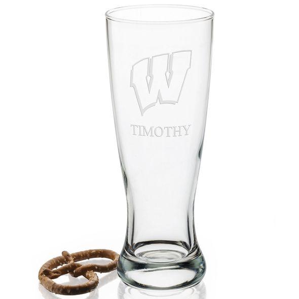 Wisconsin 20oz Pilsner Glasses - Set of 2 - Image 2