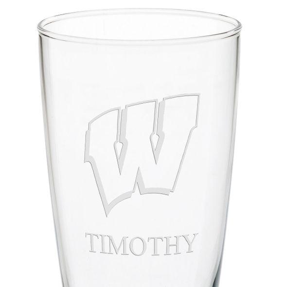 Wisconsin 20oz Pilsner Glasses - Set of 2 - Image 3