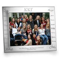 Kappa Kappa Gamma Signature Engraving Pewter 8x10 Frame - Landscape