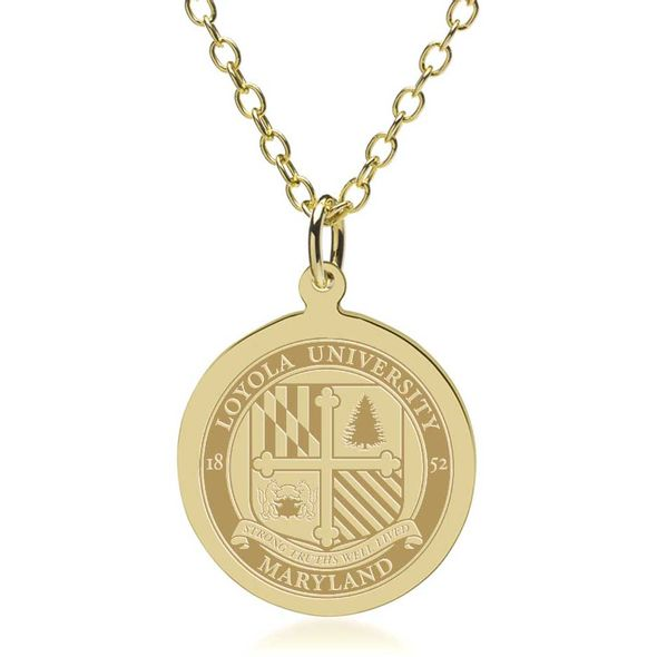 Loyola 14K Gold Pendant & Chain - Image 1