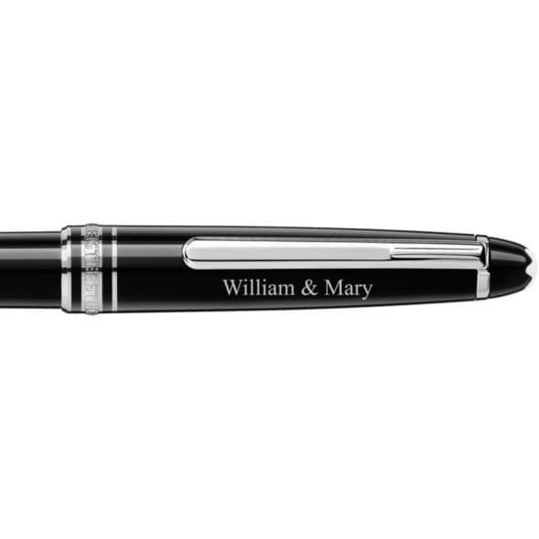College of William & Mary Montblanc Meisterstück Classique Ballpoint Pen in Platinum - Image 2