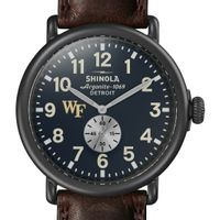 Wake Forest Shinola Watch, The Runwell 47mm Midnight Blue Dial