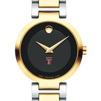 Texas Tech Women's Movado Two-Tone Modern Classic Museum with Bracelet