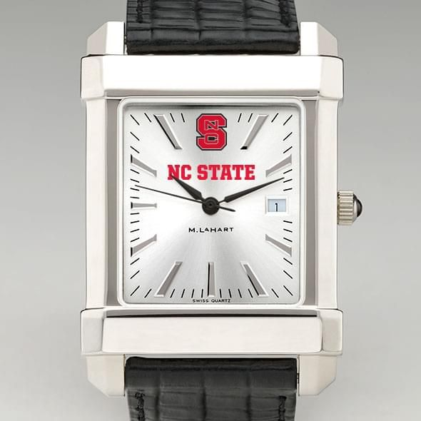 NC State Men's Collegiate Watch with Leather Strap