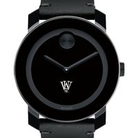 WashU Men's Movado BOLD with Leather Strap