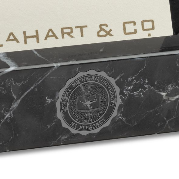 Central Michigan Marble Business Card Holder - Image 2
