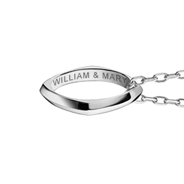College of William & Mary Monica Rich Kosann Poesy Ring Necklace in Silver - Image 3