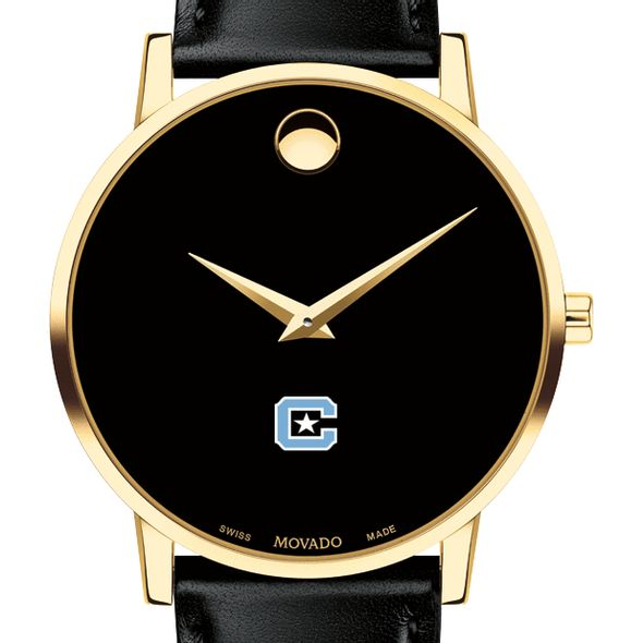 Citadel Men's Movado Gold Museum Classic Leather