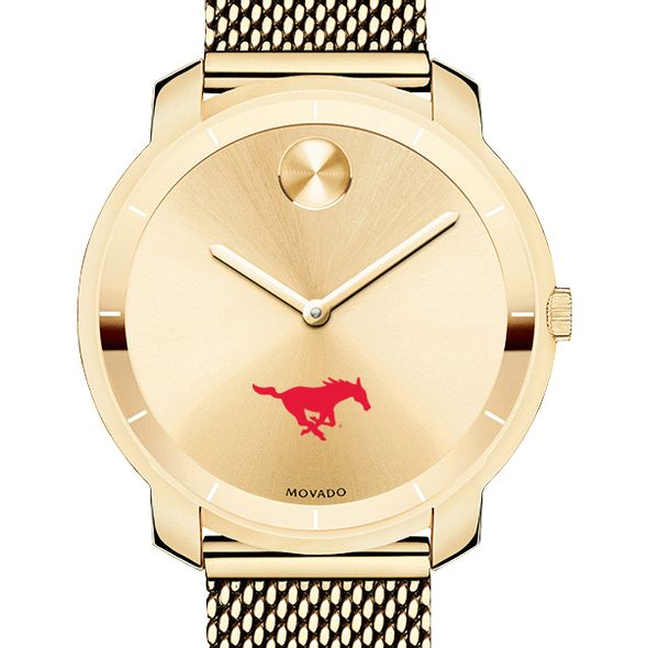 Southern Methodist University Women's Movado Gold Bold 36