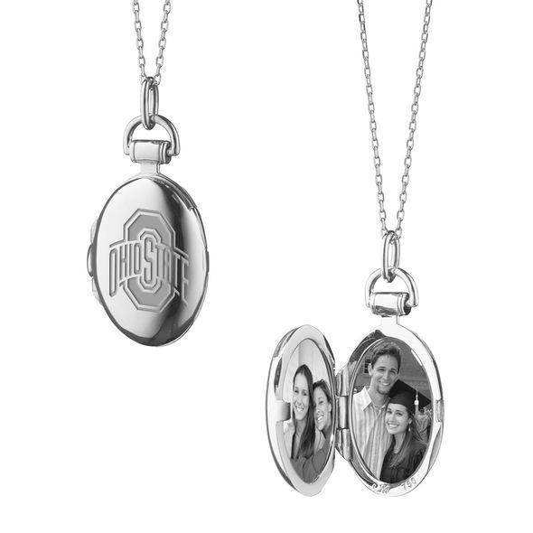 Ohio State Monica Rich Kosann Petite Locket in Silver - Image 1