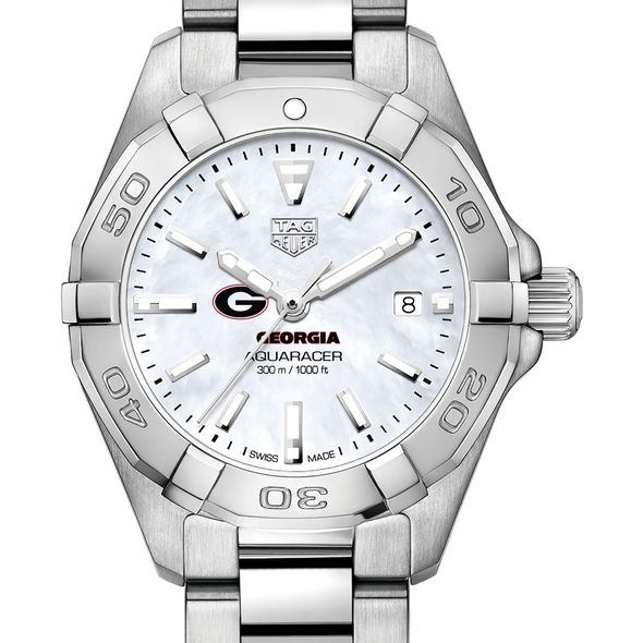 University of Georgia Women's TAG Heuer Steel Aquaracer w MOP Dial