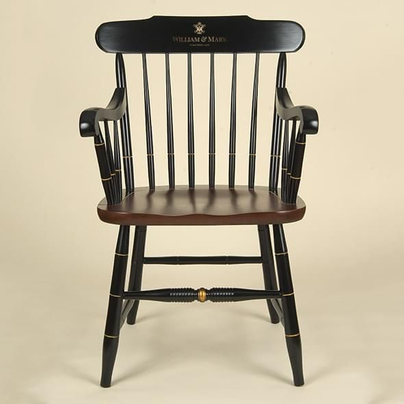 College of William & Mary Captain's Chair by Hitchcock