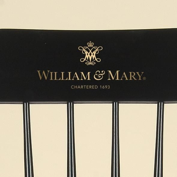 College of William & Mary Captain's Chair by Hitchcock - Image 2