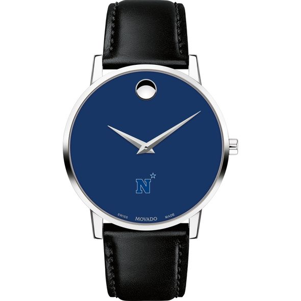 US Naval Academy Men's Movado Museum with Blue Dial & Leather Strap - Image 2