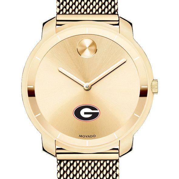 University of Georgia Women's Movado Gold Bold 36