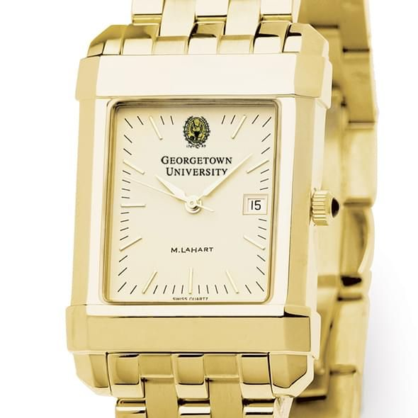 Georgetown Men's Gold Quad Watch with Bracelet