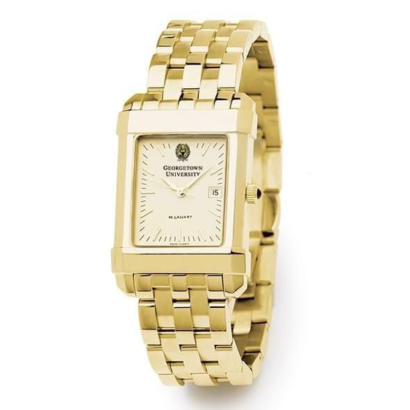 Georgetown Men's Gold Quad Watch with Bracelet - Image 2