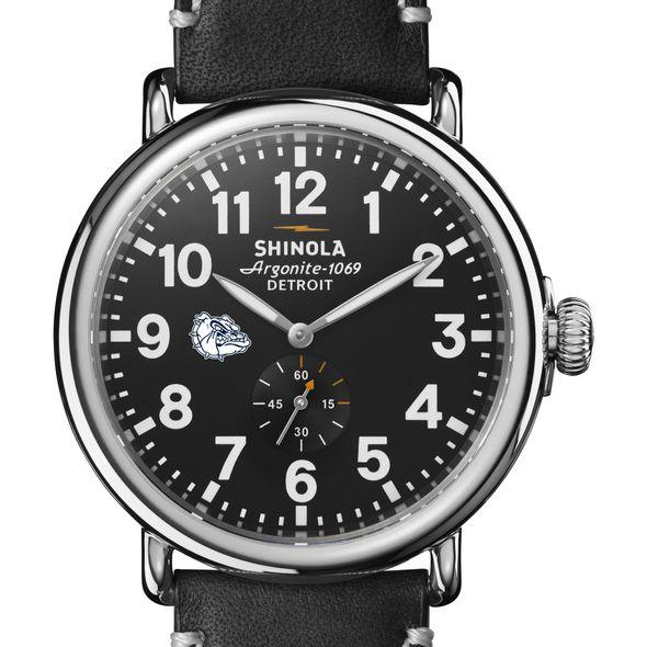 Gonzaga Shinola Watch, The Runwell 47mm Black Dial