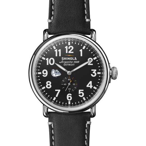 Gonzaga Shinola Watch, The Runwell 47mm Black Dial - Image 2