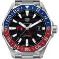 MIT Men's TAG Heuer Automatic GMT Aquaracer with Black Dial and Blue & Red Bezel - Image 1