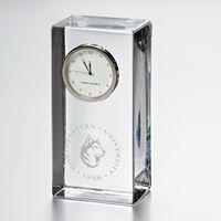 Northeastern Tall Glass Desk Clock by Simon Pearce