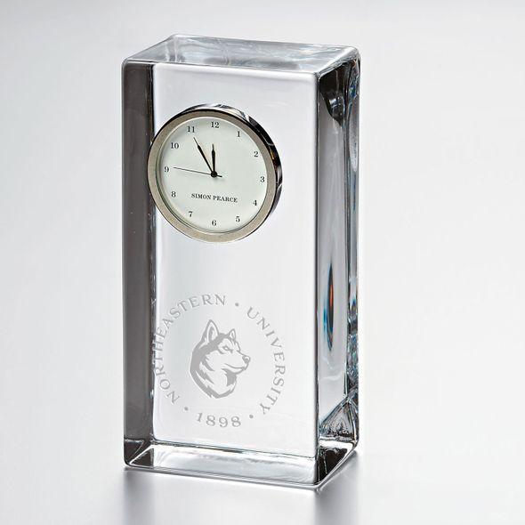 Northeastern Tall Glass Desk Clock by Simon Pearce - Image 1