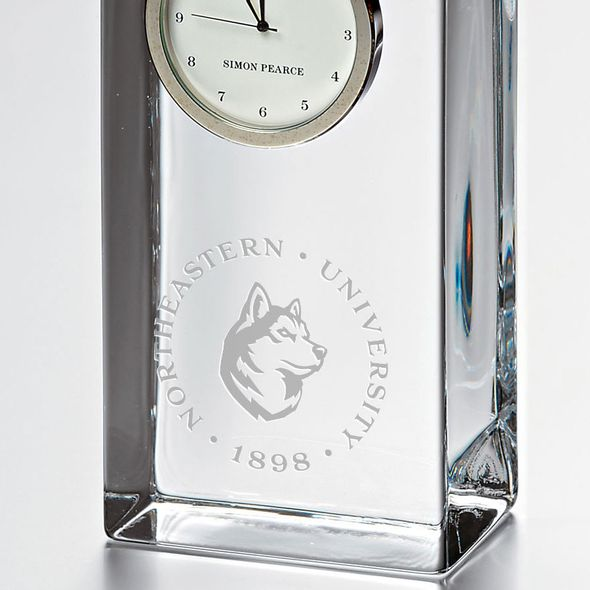 Northeastern Tall Glass Desk Clock by Simon Pearce - Image 2