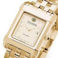 Villanova Men's Gold Quad Watch with Bracelet