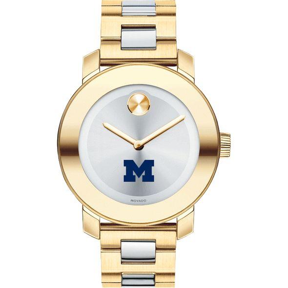 University of Michigan Women's Movado Two-Tone Bold - Image 2