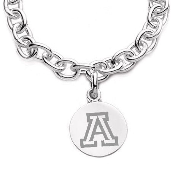University of Arizona Sterling Silver Charm Bracelet - Image 2