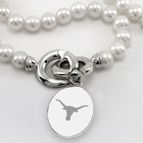 Texas Pearl Necklace with Sterling Silver Charm - Image 2